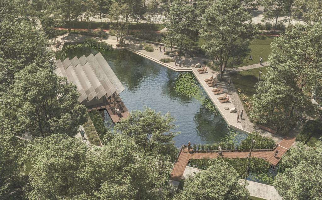 A park központi eleme egy mesterséges tó lesz - forrás: Énbudapestem.hu